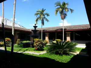 The courtyard at the Plasencia factory